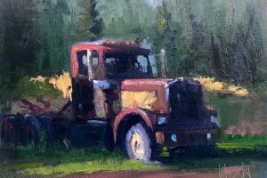 Stephen Wysocki painting of an old truck
